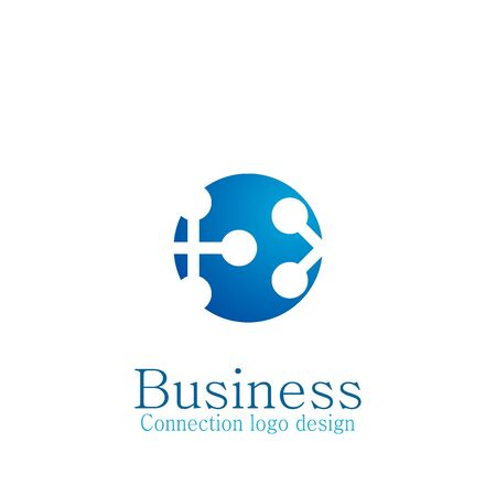 Business connecting logo, networking logo design.