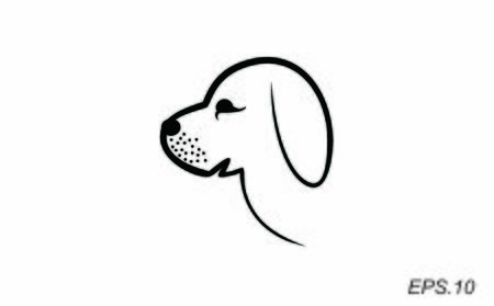 Dog logo vector, dog logo with hand drawn style.