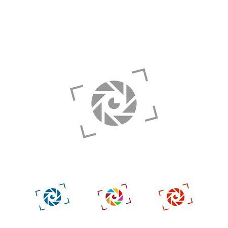 Lens logo design, photograph icon and symbol. vector icons.