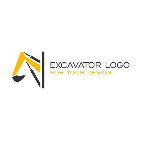 Création de logo d'excavatrice.