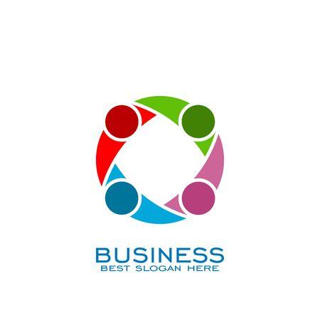 Circle Teamwork logo, connection logo. Banco de Imagens - 132082300