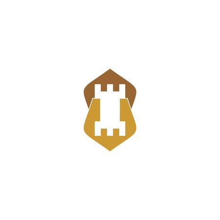 Castle logo vector  イラスト・ベクター素材