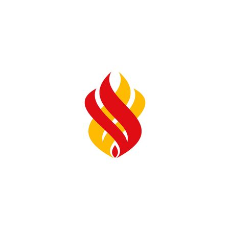 Fire graphic design. flame logo vector. Illustration