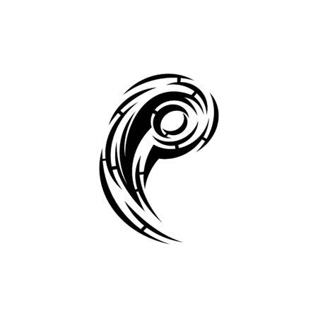 tribal arm tattoo vector graphic design. Illustration