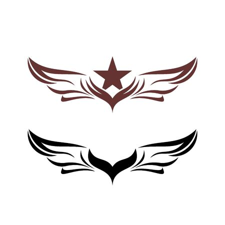 Wings vector graphic design. tribal wings tattoo. wing logo design.