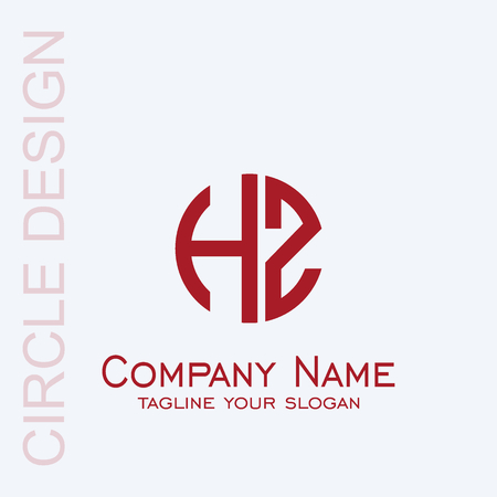 Letter HZ logo design. initial letter hz graphic logo template.