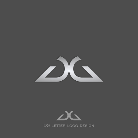 letter D G logo, simple design.