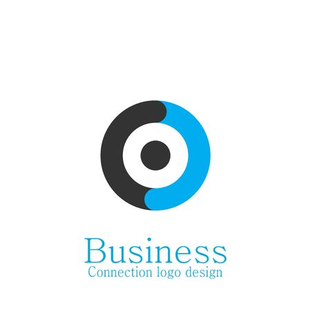 Circle logo, Business connecting logo. Vettoriali