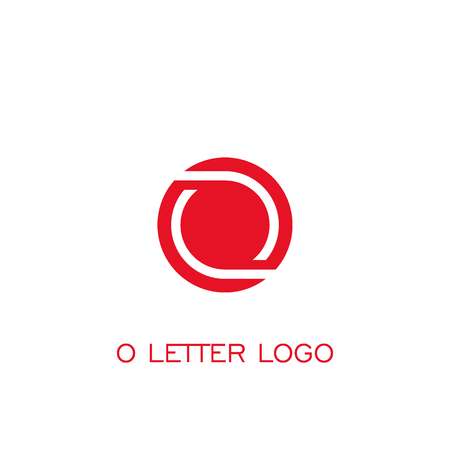 Circle logo design, letter O graphic logo template.