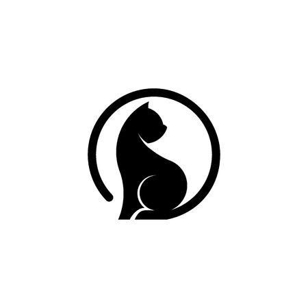 Cat graphic logo vector, silhouette of cat, vector icons. Illustration