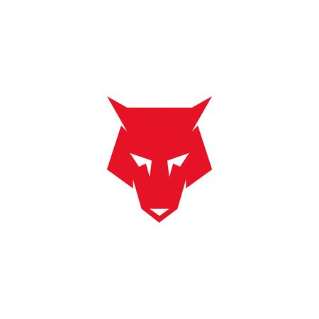 wolf head icon, wolf logo vector design.