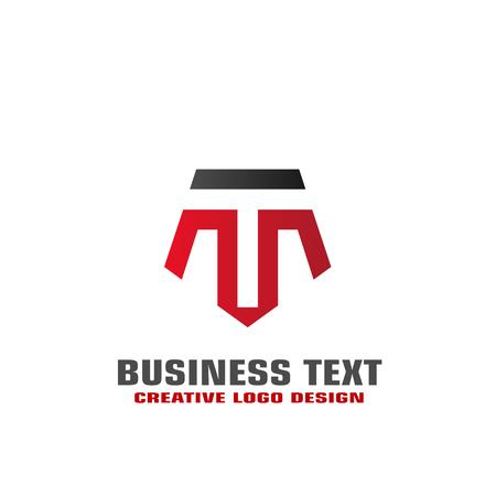 T letter logo vector design, initial letter TM graphic logo template, elegant business logo.