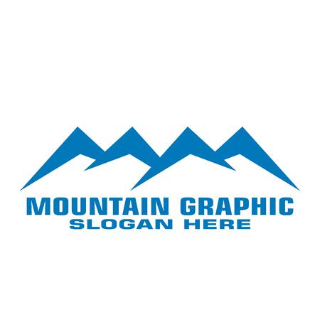 Mountain graphic, mountain logo vector, flat design.