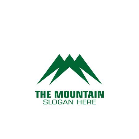 Mountain graphic logo template, simple logo, flat design. Ilustração