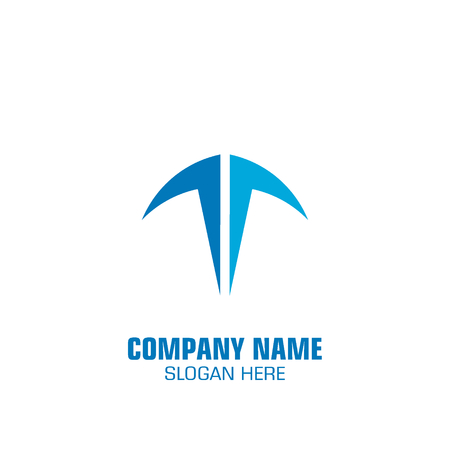 Creative letter T graphic logo template, logo for company.