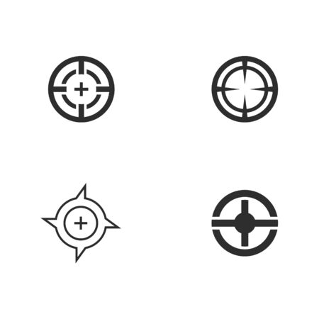 Target logo vector design, focus graphic logo concept template, set of circle target icon vector illustrations.
