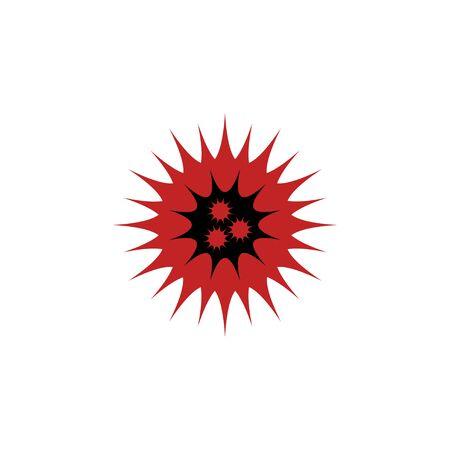 Corona Virus graphic logo design concept, vector icon, isolated on white background. 向量圖像