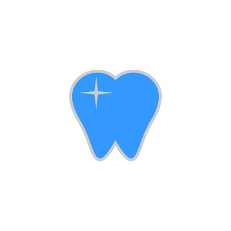 Dental care logo design concept, tooth icon and symbol, modern and simple design, isolated on white background. Archivio Fotografico - 149741530