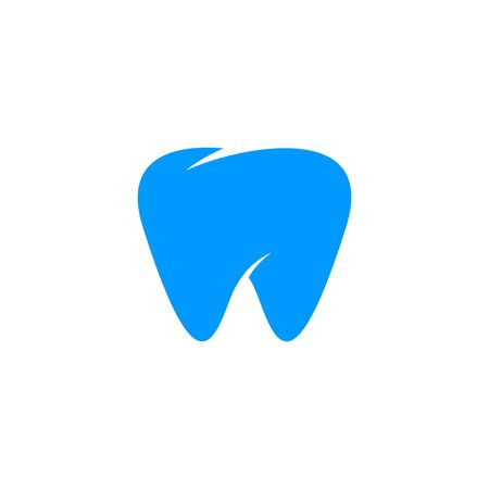 Dental care logo design concept, tooth icon and symbol, isolated on white background.