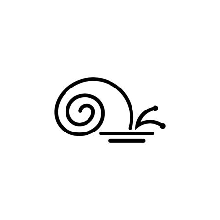 Snail vector linear design concept, isolated on white background.