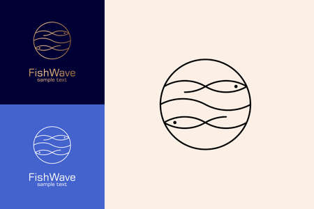 Wave Logo Linear Design Concept.