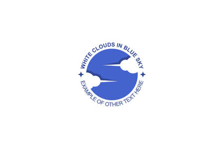 Blue sky with cloud on negative space design concept, abstract business logo.