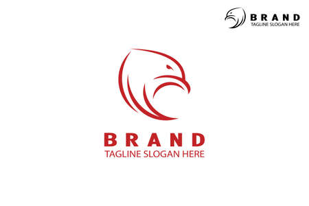 Abstract eagle logo, eagle head design concept with wing, modern creative and simple logo, isolated on white background.