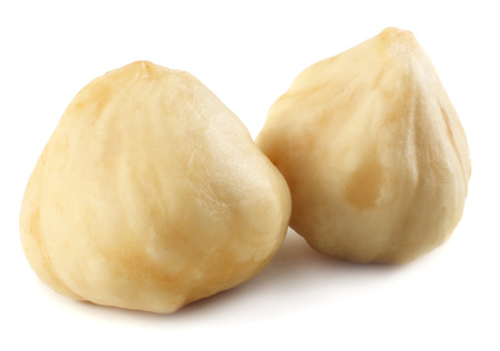 hazelnuts isolated on a white background. macro Stok Fotoğraf