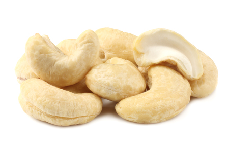 cashew isolated on white background. Nuts on white background.