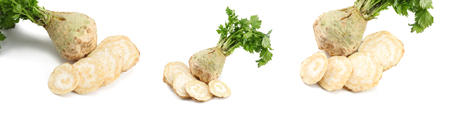 celery collection. celery root with leaf isolated on white background. Celery isolated on white. Healthy