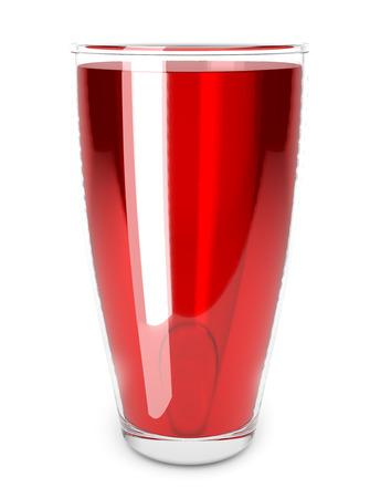 pomegranate juice isolated on a white background. Glass of pomegranate juice. Фото со стока - 124562928