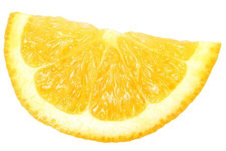 orange slice isolated on white background. macro.