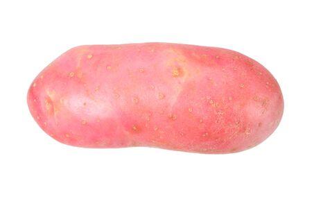 Raw red potato isolated on white background Stock Photo