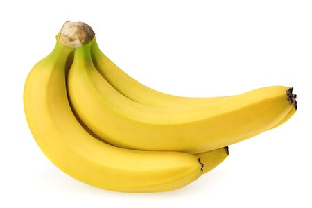 fresh banana isolated on white background. Healthy food