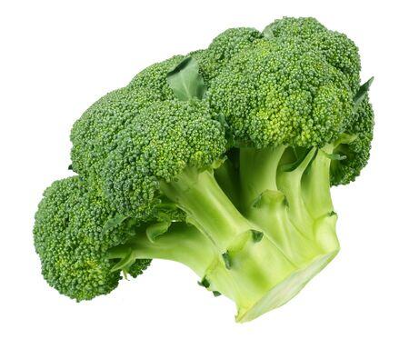 fresh green broccoli isolated on white background Foto de archivo