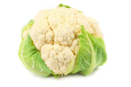 cauliflower isolated on white background. head of cauliflower