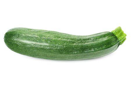 fresh green zucchini isolated on white background