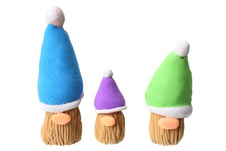 plasticine gnome isolated on white background. modelling clay