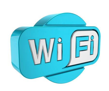 wireless wifi icon isolated on white background. wifi sign. wifi symbol. 3d render illustration.