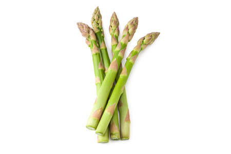Fresh green asparagus isolated on white background Banque d'images