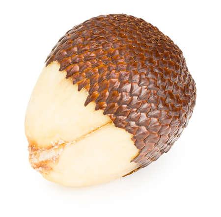 Salak or snake fruit isolated on white background.