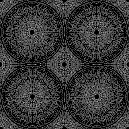 vector black and white seamless pattern Vector