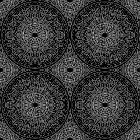 vettoriale in bianco e nero seamless Vettoriali