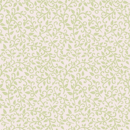 vector seamless pattern  spring foliage Vector