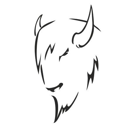 vettore bisonte Vettoriali
