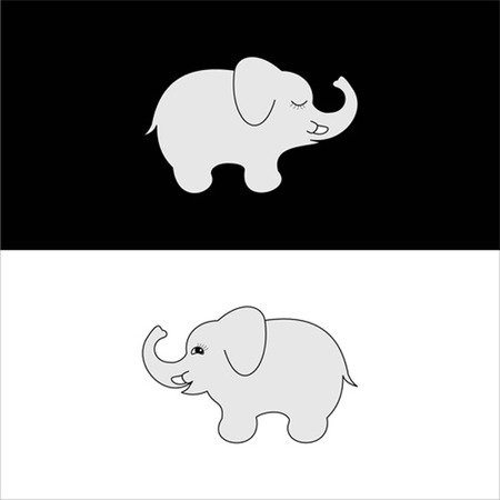 vector cute elephants  Vector