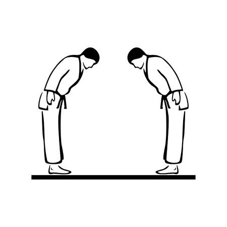 artes marciales Ilustración de vector
