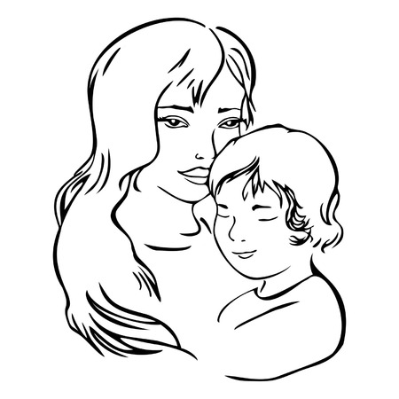 mother and child, vector illustration Stock Vector - 22488854