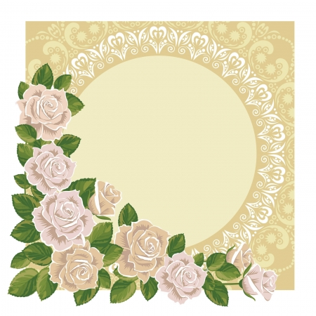 beautiful vector frame with roses  Stock Vector - 22488897