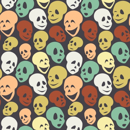vector pattern  halloween smiles  Vector